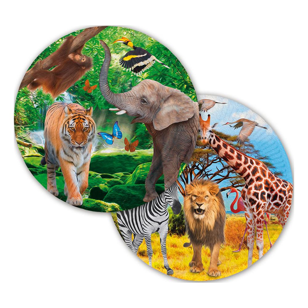 Papperstallrikar Safari Party - 8-pack