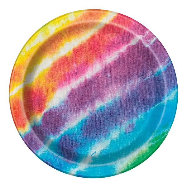 Papperstallrikar Tie Dye - 8-pack