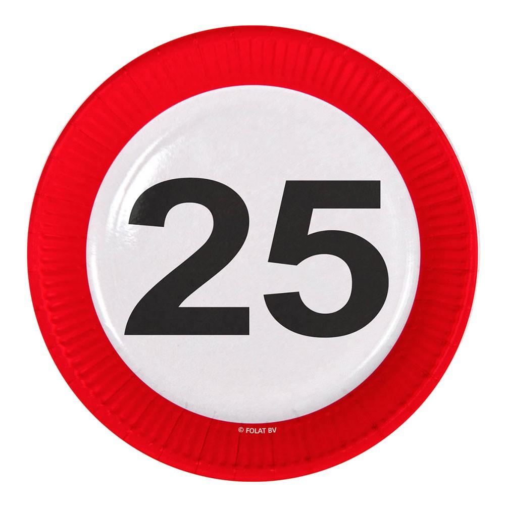 Papperstallrikar Trafikskylt - Trafikskylt 25