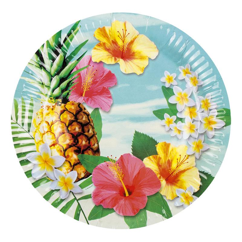 Papperstallrikar Tropiska - 6-pack