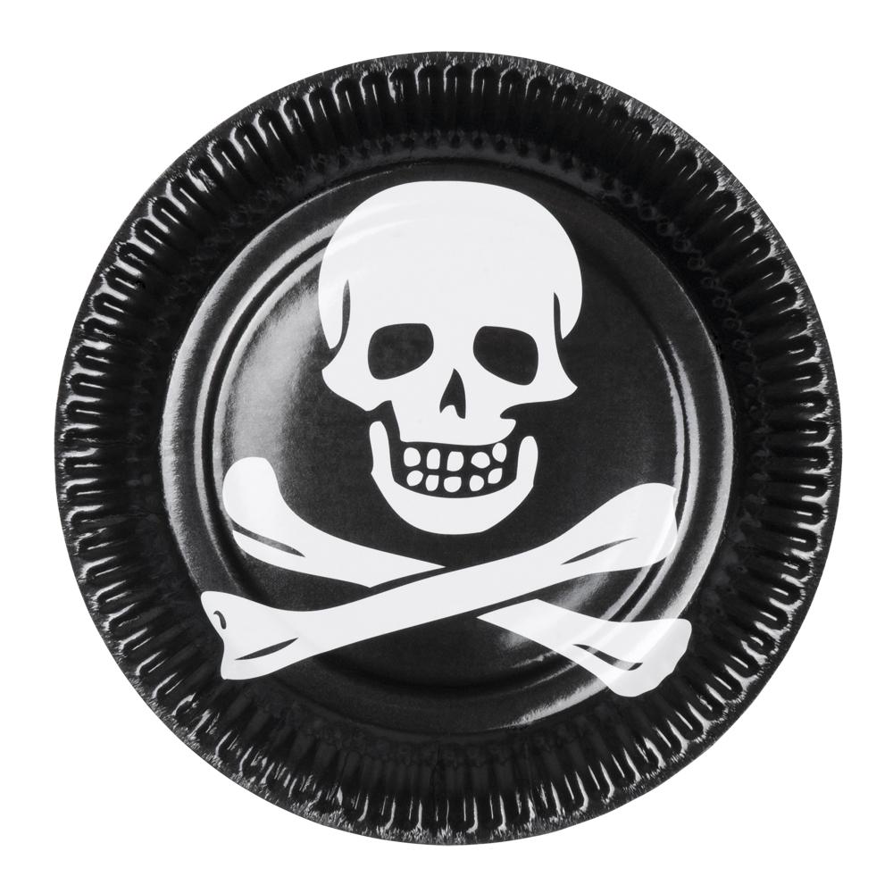 Papperstallrikar Pirat - 6-pack