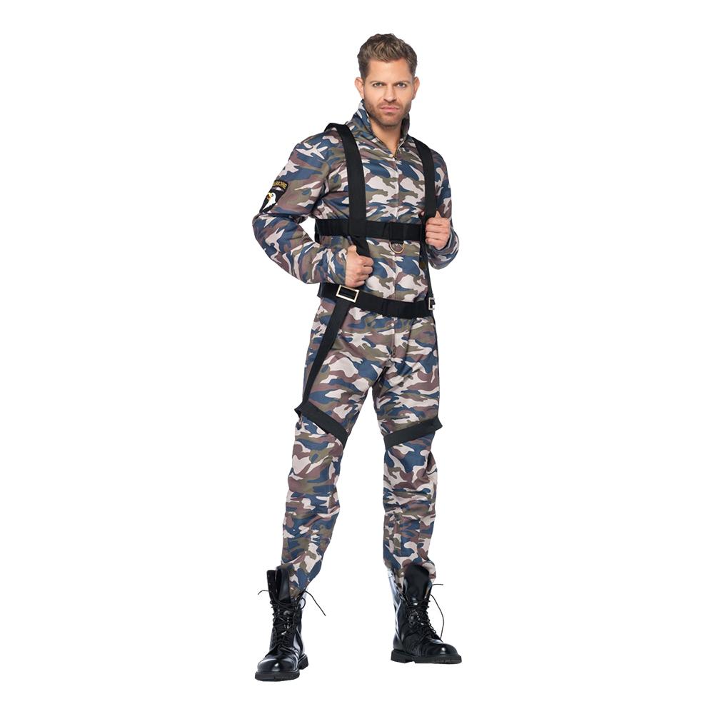 Paratrooper Militär Deluxe Maskeraddräkt - Medium