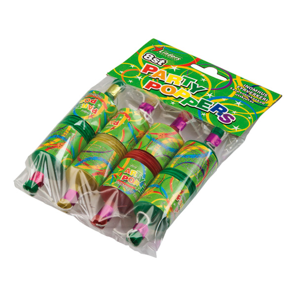 Party Poppers - 8-pack