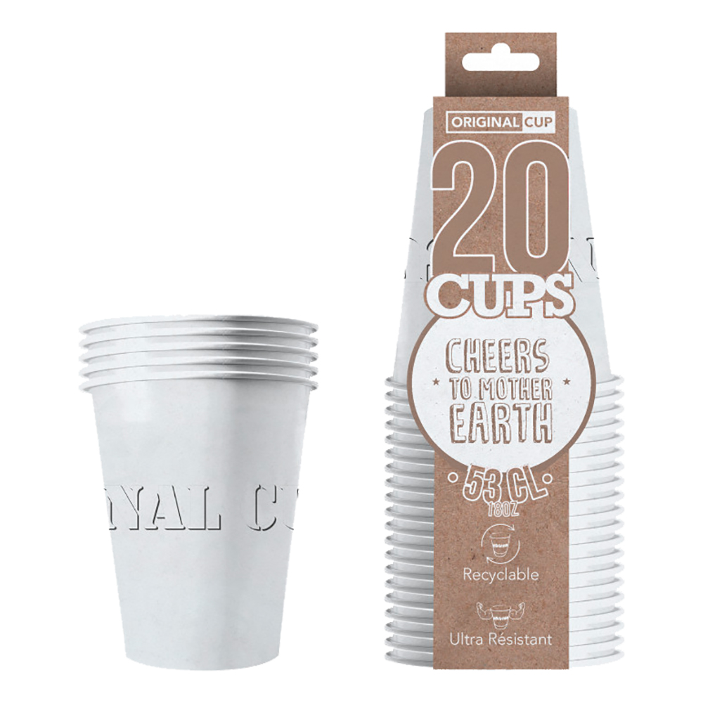 Partycups Papper Vit - 20-pack