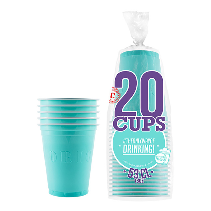 Partycups Turkos - 20-pack