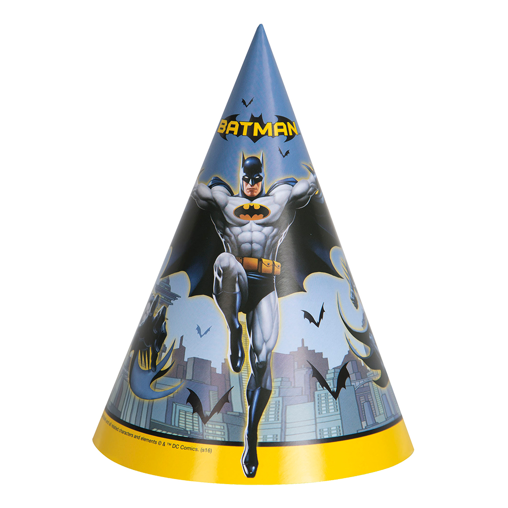 Partyhattar Batman - 8-pack
