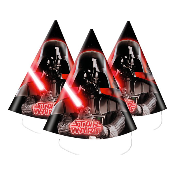 Partyhattar Star Wars - 6-pack