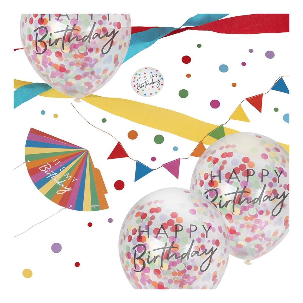 Partykit till Skrivbord Happy Birthday