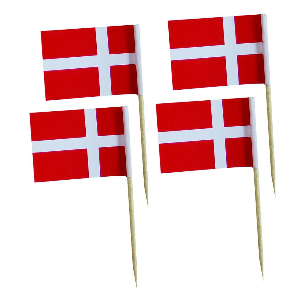 Partypicks Danska Flaggan - 20-pack