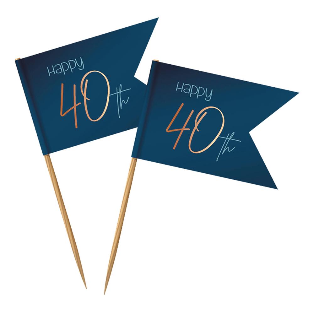 Partypicks Happy 40th True Blue - 36-pack