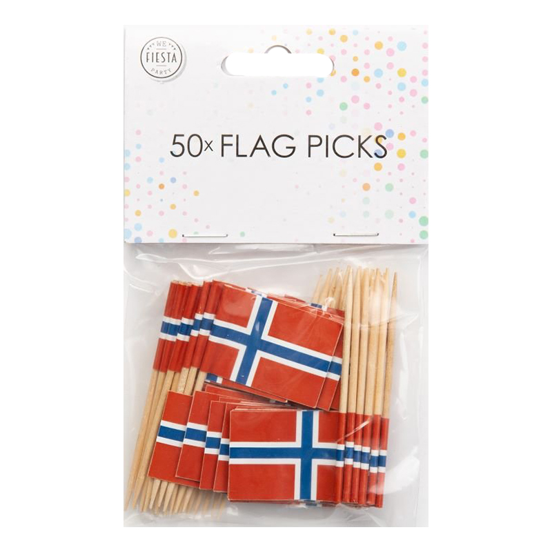Partypicks Norge - 50-pack