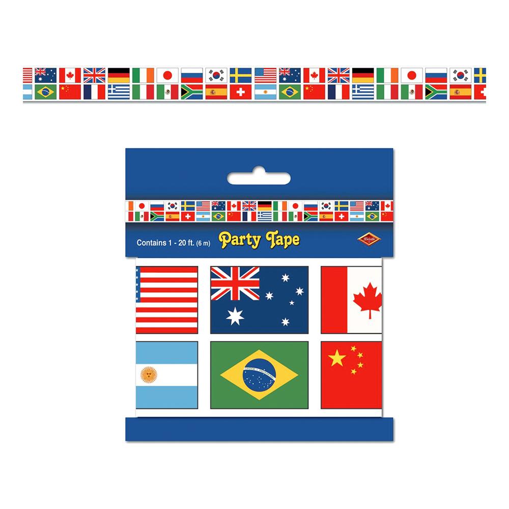 Avspärrningsband Internationella Flaggor