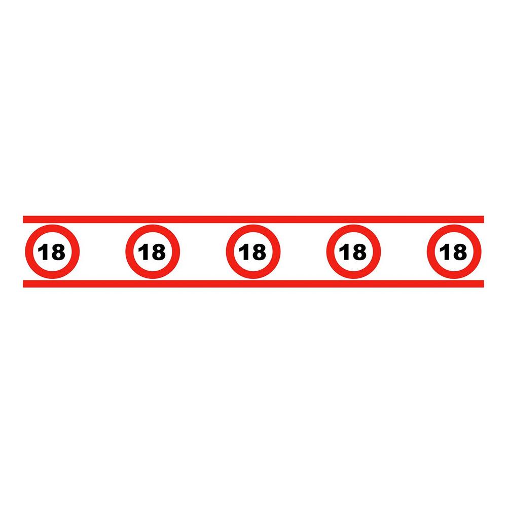 Avspärrningsband Trafikskylt 18 - 610x8cm