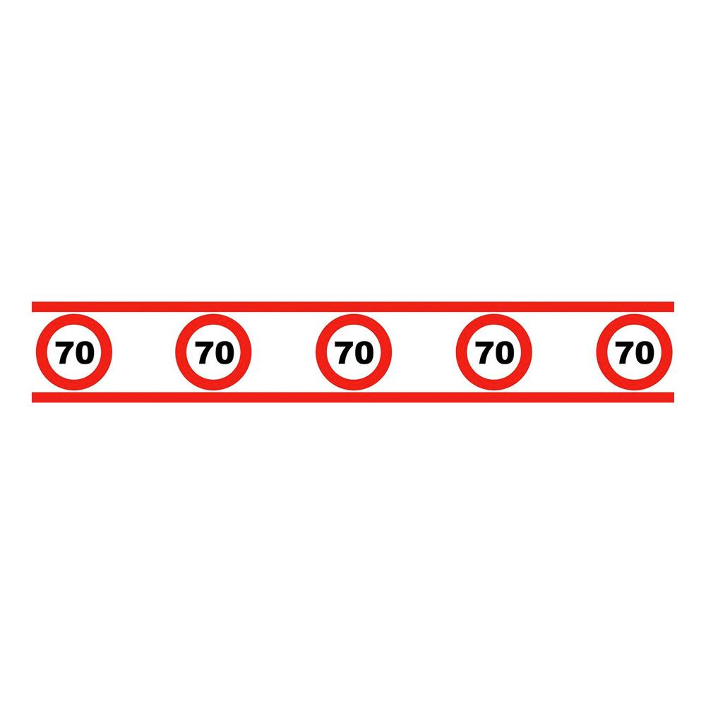 Partytejp Trafikskylt 70 - 1-pack