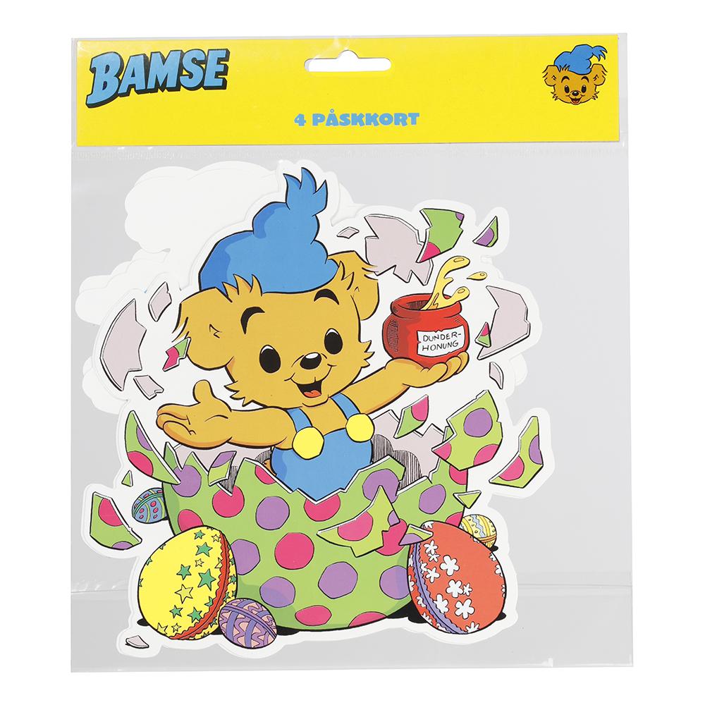Påskkort Bamse - 4-pack