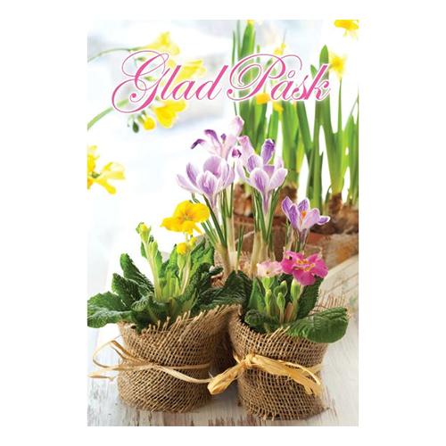 Påskkort Blommor Glad Påsk