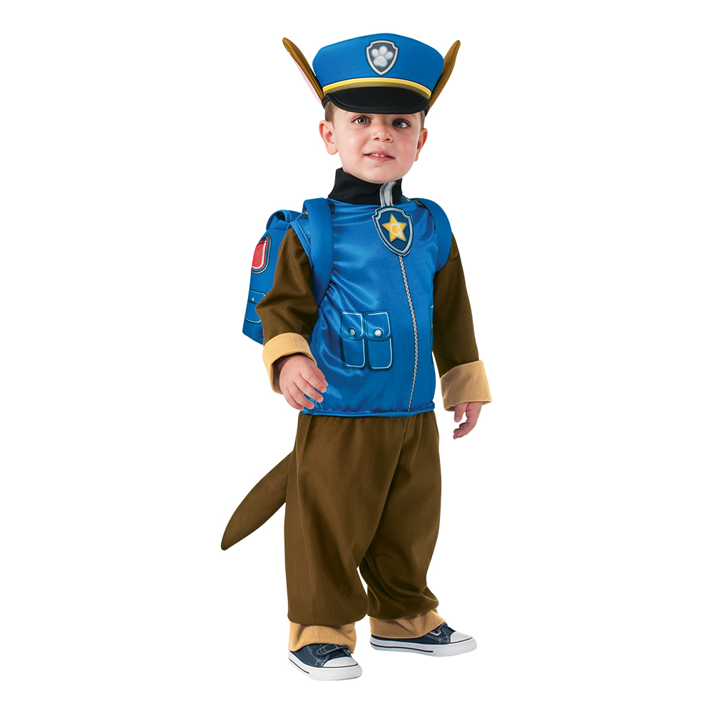 Paw Patrol Chase Barn Deluxe Maskeraddräkt - X-Small