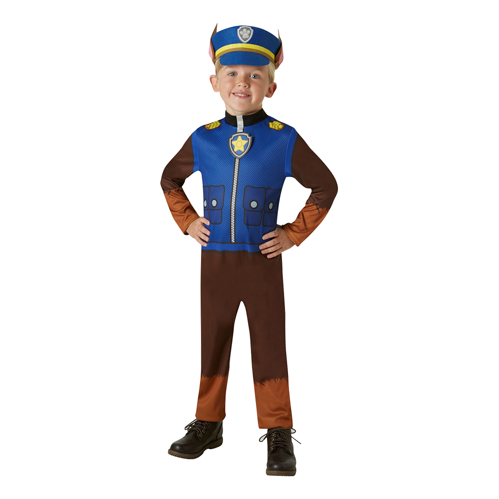 Paw Patrol Chase Barn Maskeraddräkt - Medium