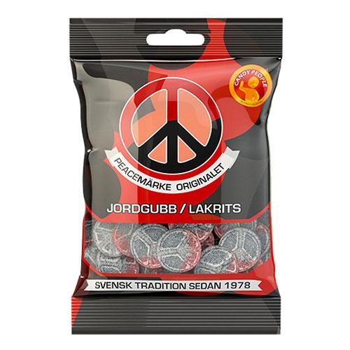 Peacemärken Jordgubb-Lakrits i Påse - 80 gram