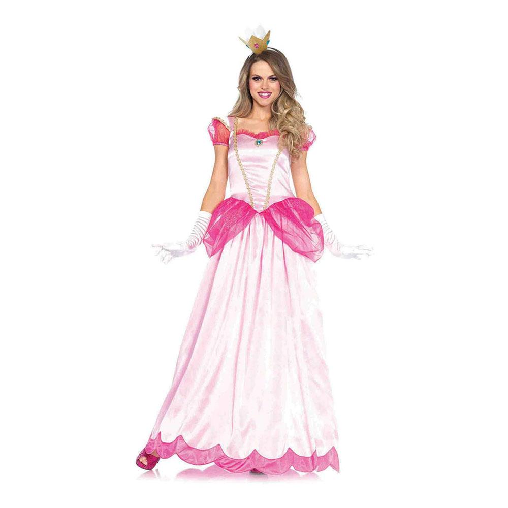 Peachy Rosa Prinsessa Maskeraddräkt - X-Large