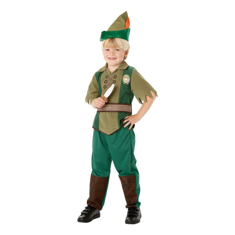 Peter Pan Barn Maskeraddräkt - Small