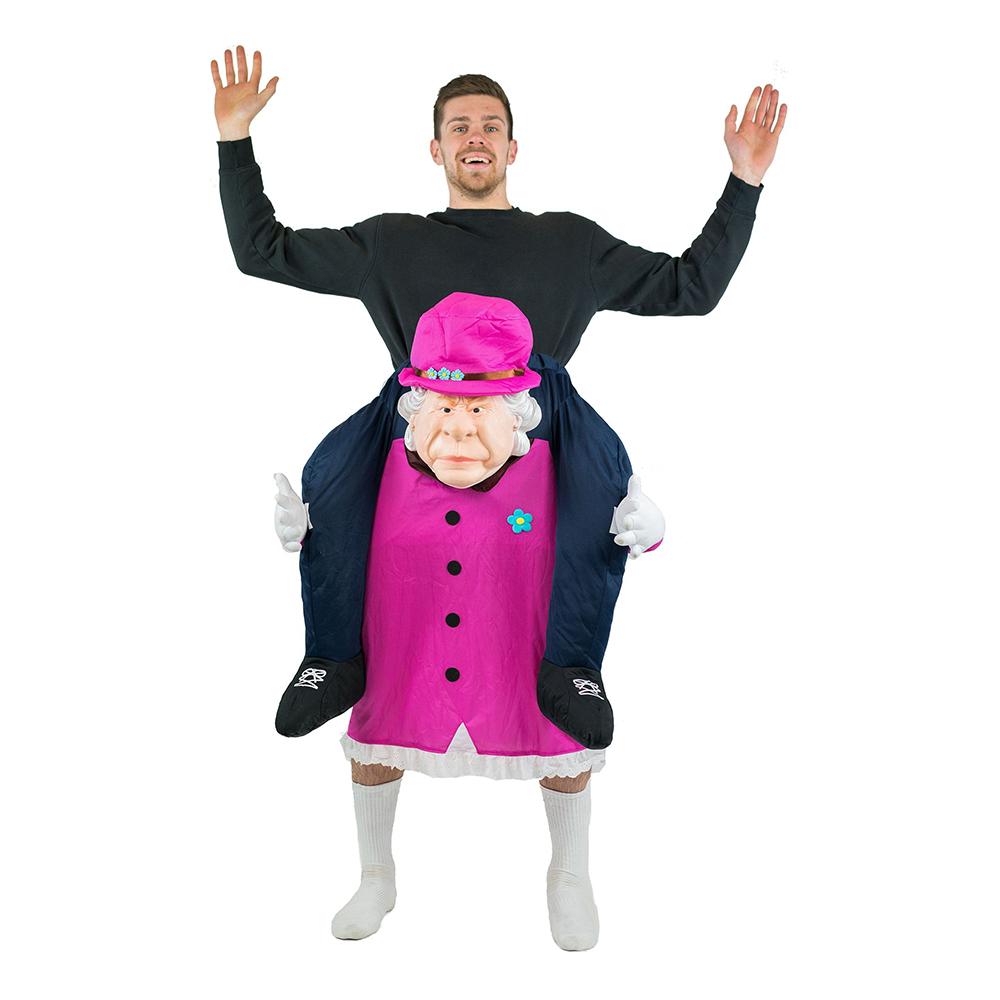 Piggy Back Drottning Elisabeth Maskeraddräkt - One size