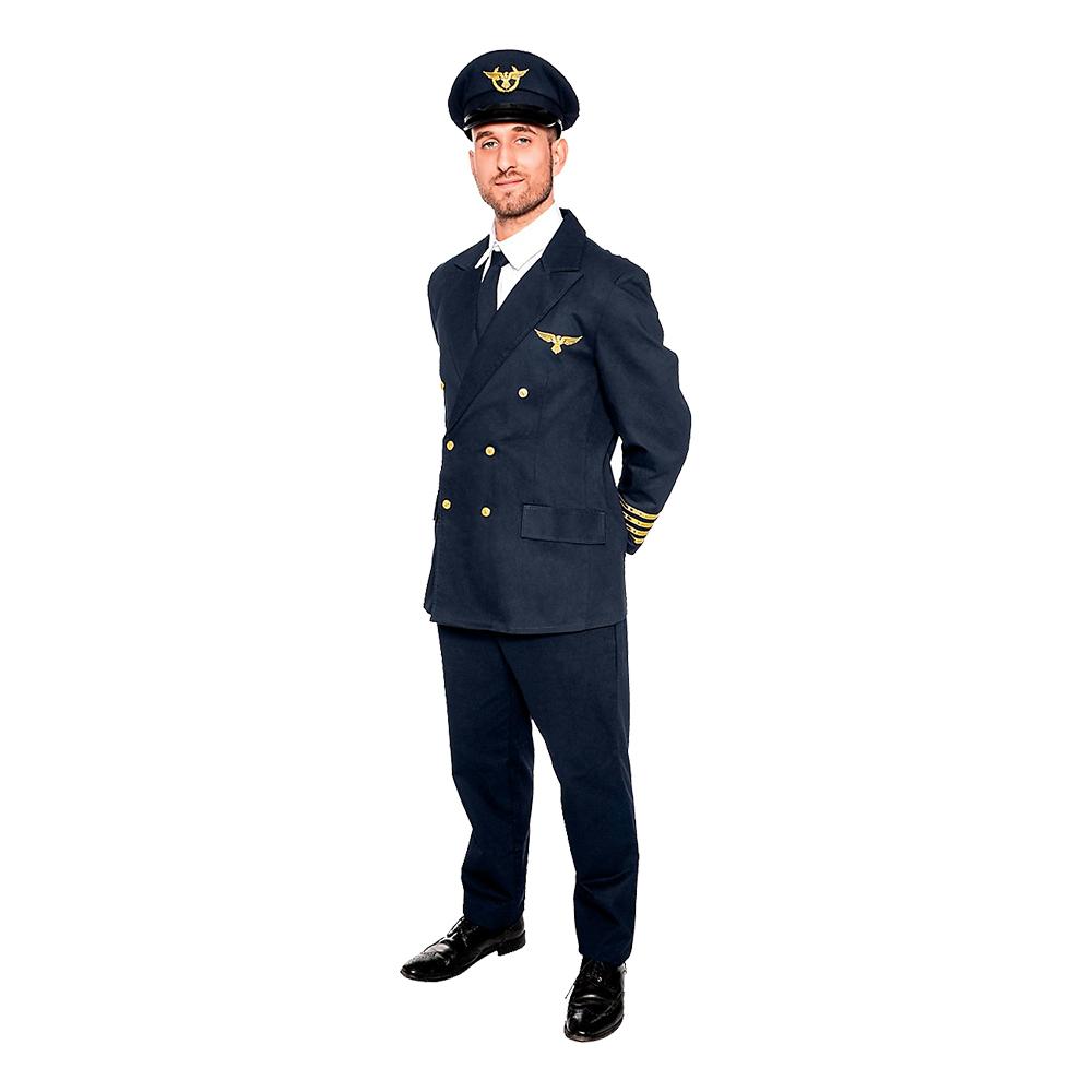 Pilot Deluxe Maskeraddräkt - Large