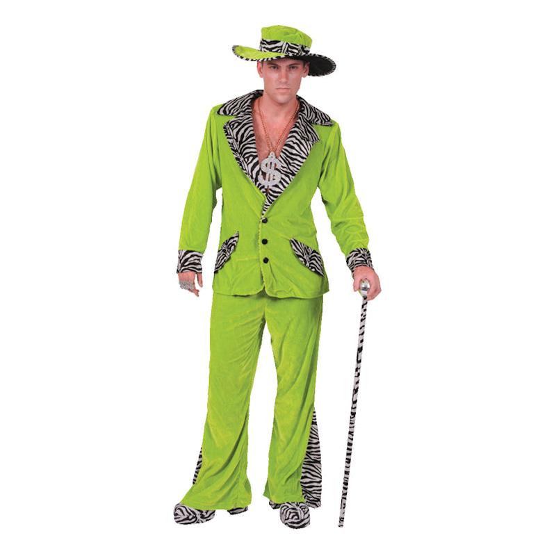 Pimp Grön Maskeraddräkt - Small