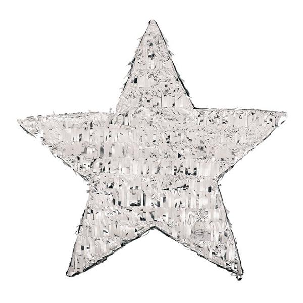 Pinata Stjärna Silverfolie - 45cm