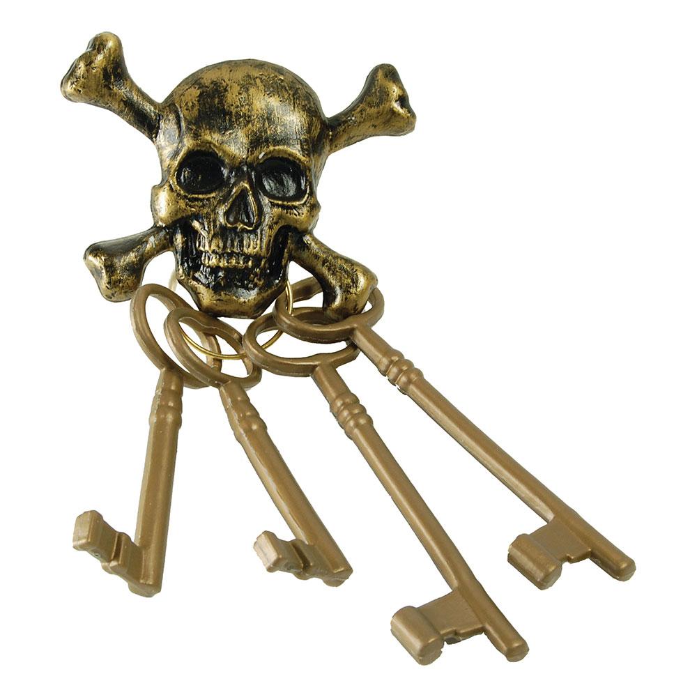 Pirat Dödskalle Nyckelknippa
