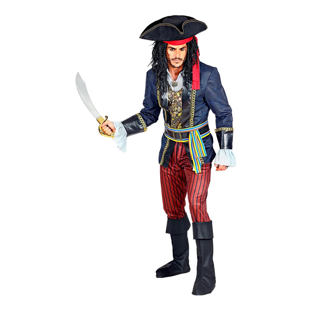 Pirat Kapten Maskeraddräkt - Small