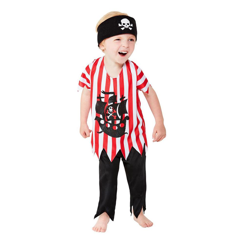 Pirat Toddler Maskeraddräkt - Small