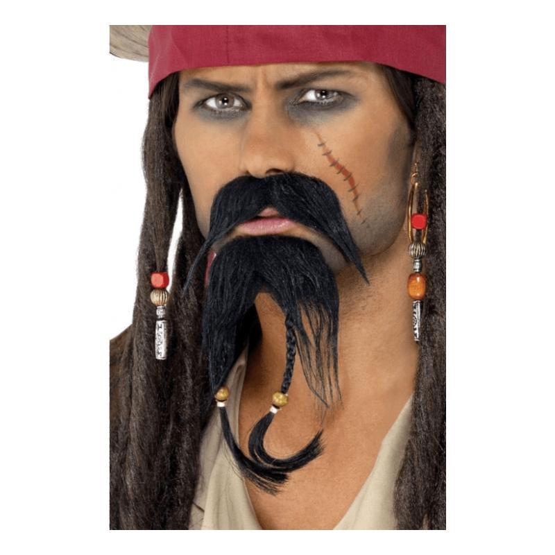 Piratskägg med Mustasch