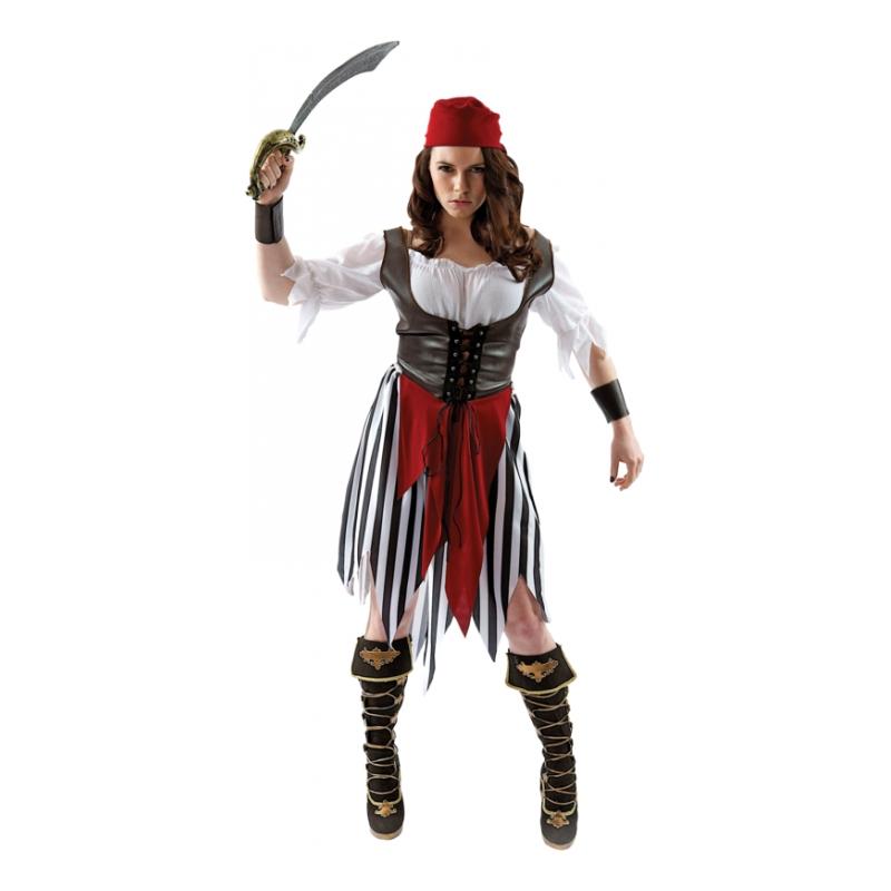 Piratkvinna Maskeraddräkt - X-Large