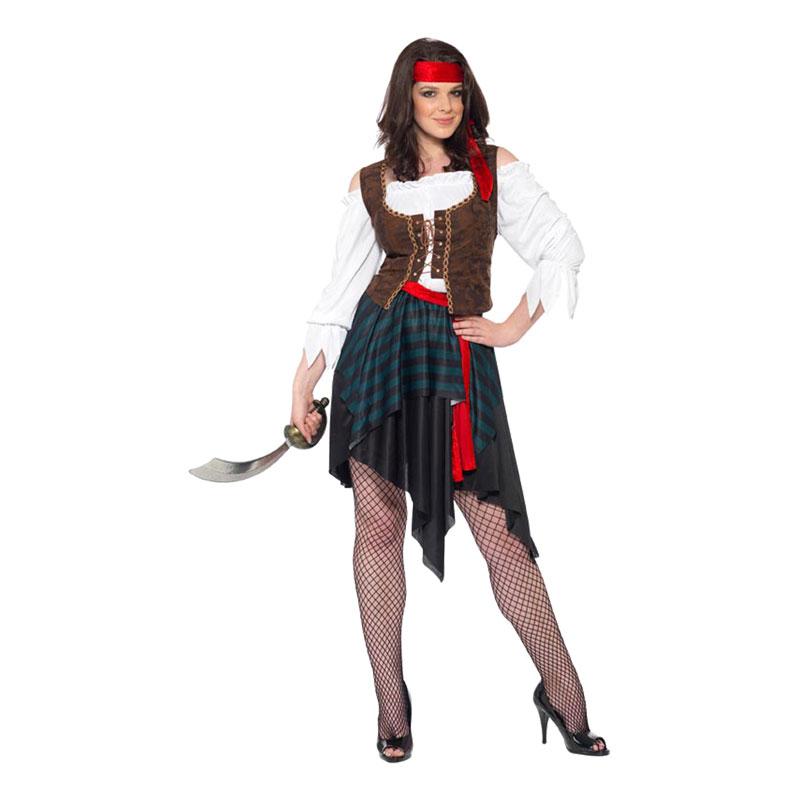 Pirattjej Maskeraddräkt - Medium