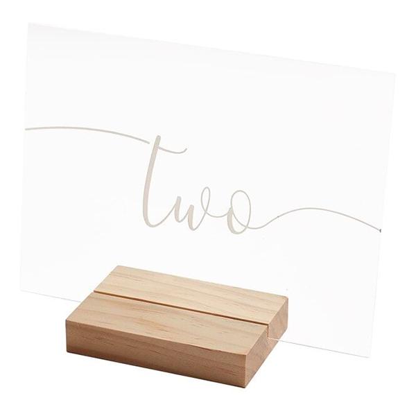 Placeringskort Siffror Transparent Akryl - 12-pack