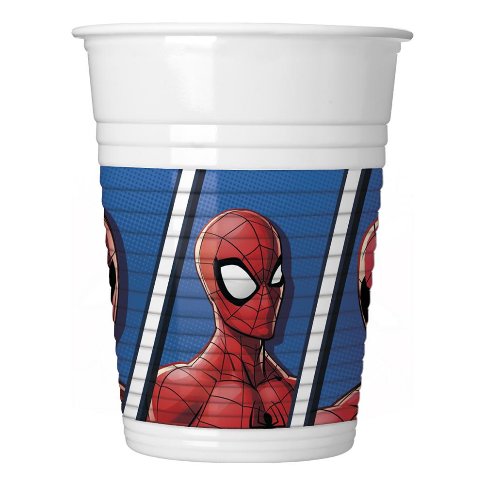 Plastmuggar Spiderman Team - 8-pack