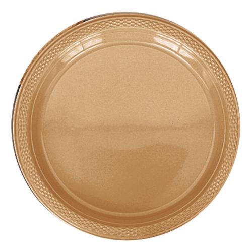Plasttallrikar Guld - 20-pack