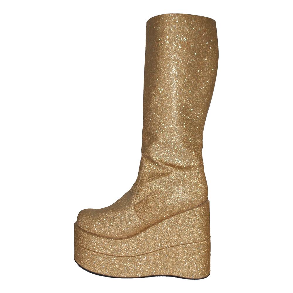 Platåskor Glitter Guld - 38-39