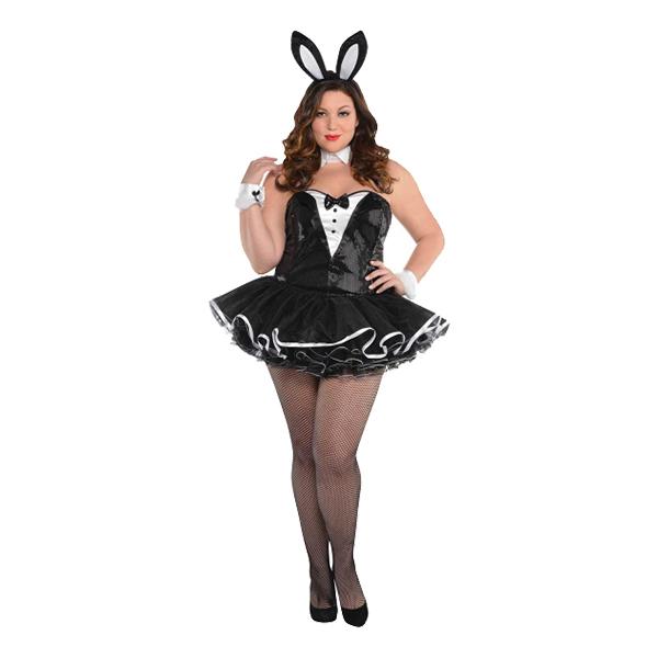 Playboy Bunny Plus-size Maskeraddräkt - Plus size