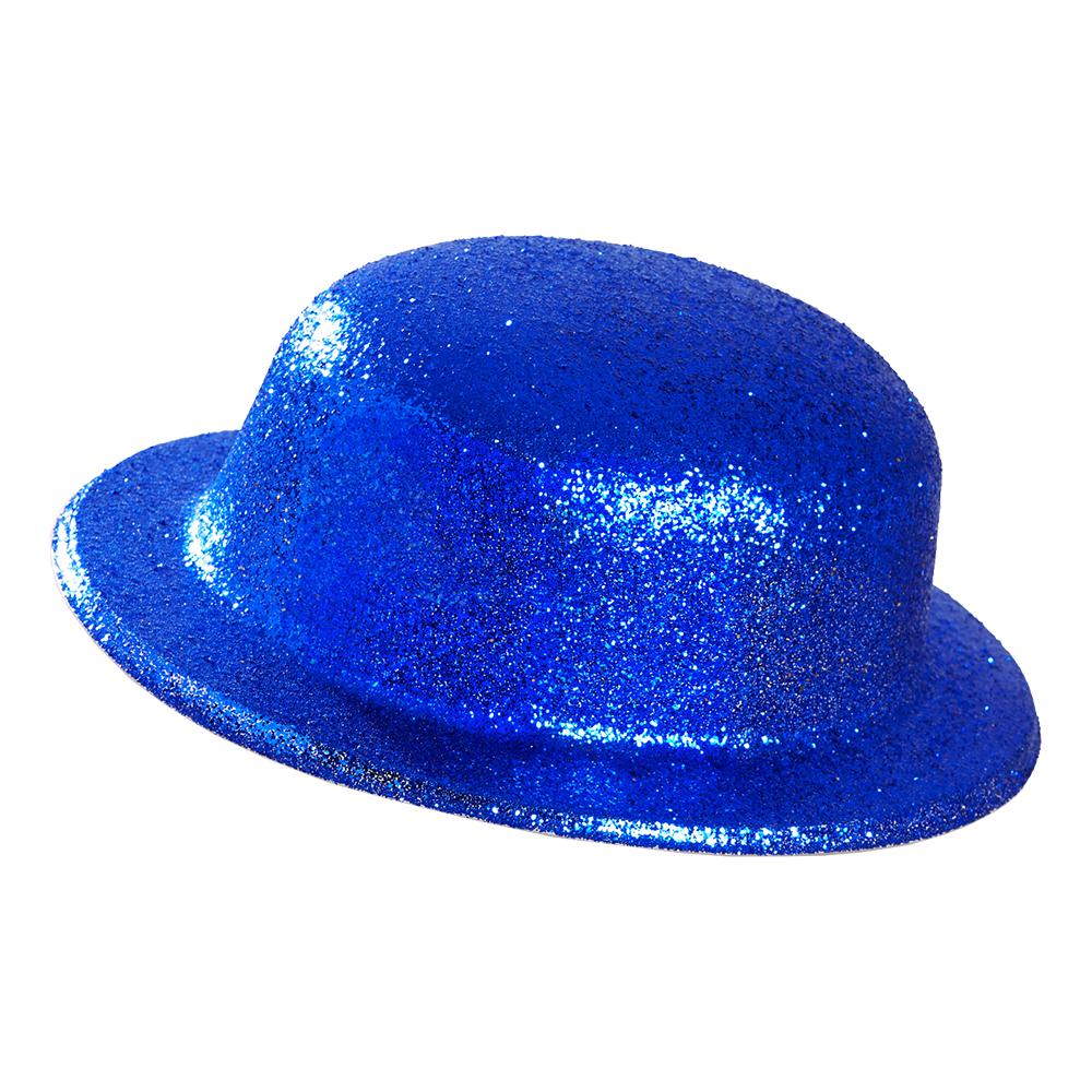 Plommonstop Glitter Blå Hatt - One size