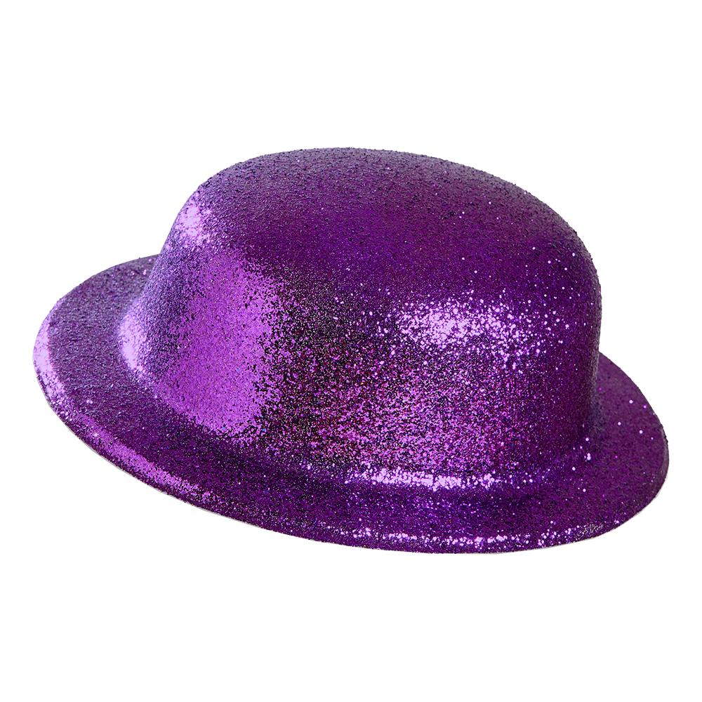 Plommonstop Glitter Lila Hatt - One size