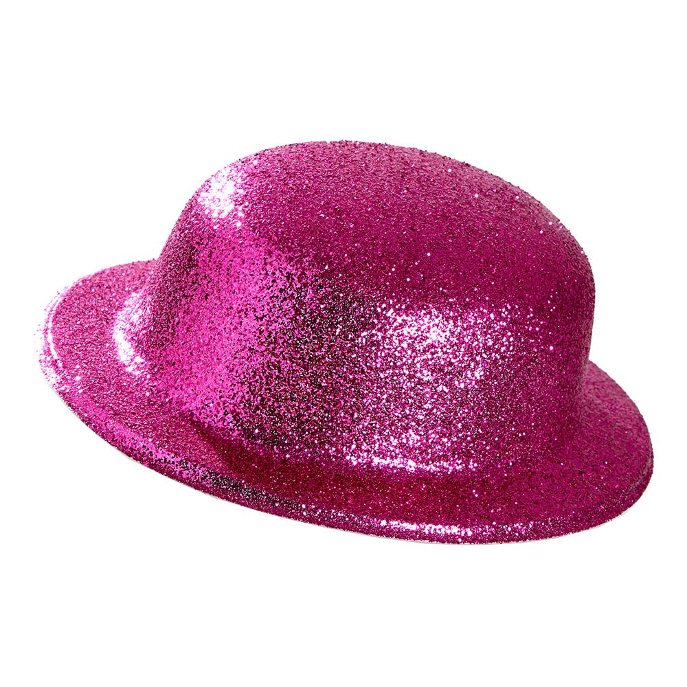 Plommonstop Glitter Rosa Hatt - One size