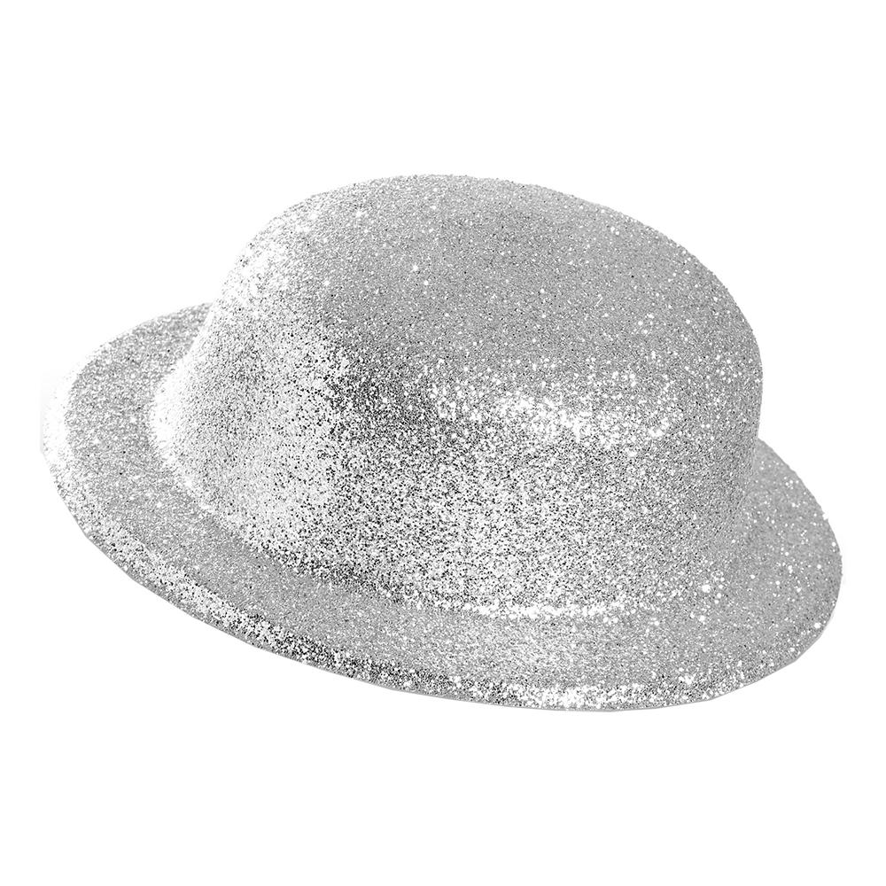 Plommonstop Glitter Silver Hatt - One size