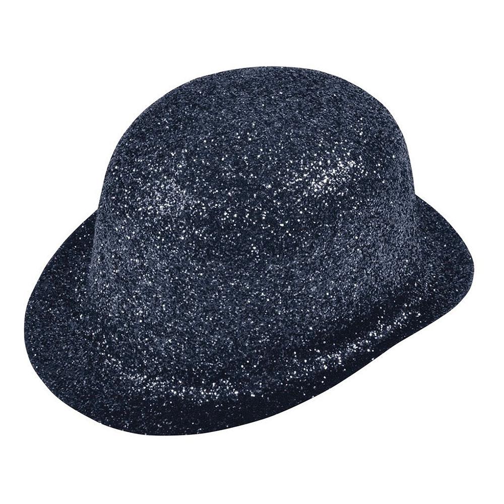 Plommonstop Glitter Svart Hatt - One size