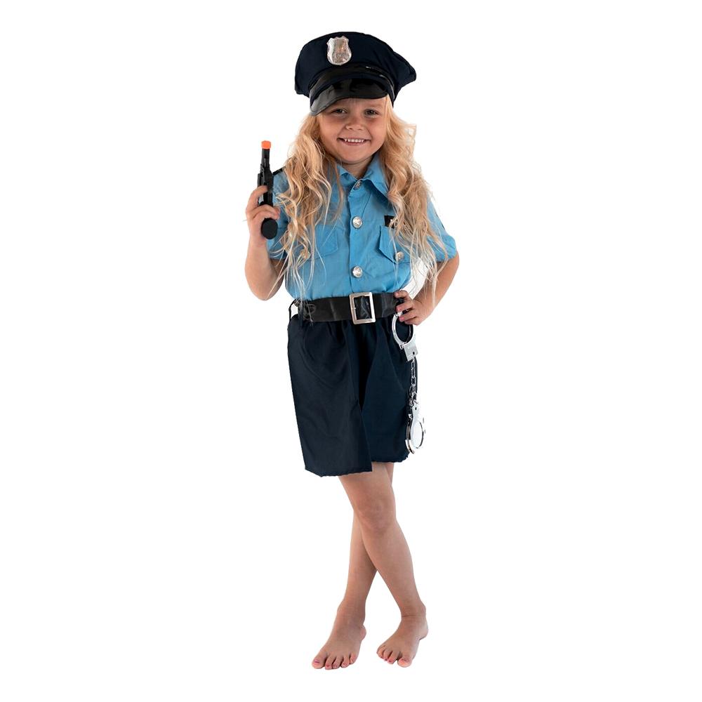 Polisofficer Flicka Barn Maskeraddräkt - Small