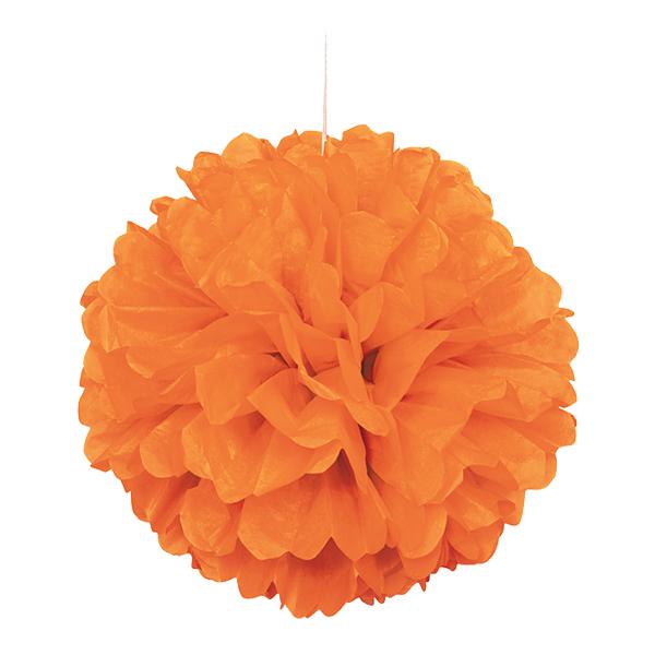 Pom Pom Orange Hängande Dekoration