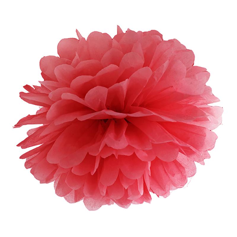 Pom Pom Röd Hängande Dekoration