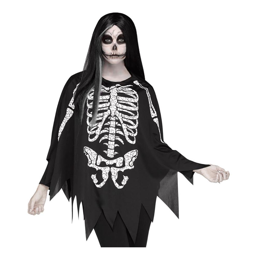 Poncho Skelett - One size