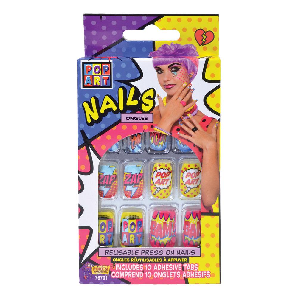 Pop Art Lösnaglar - 10-pack